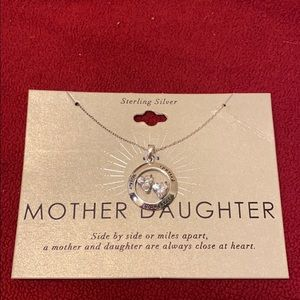 Mother & Daughter necklace - sterling NWT
